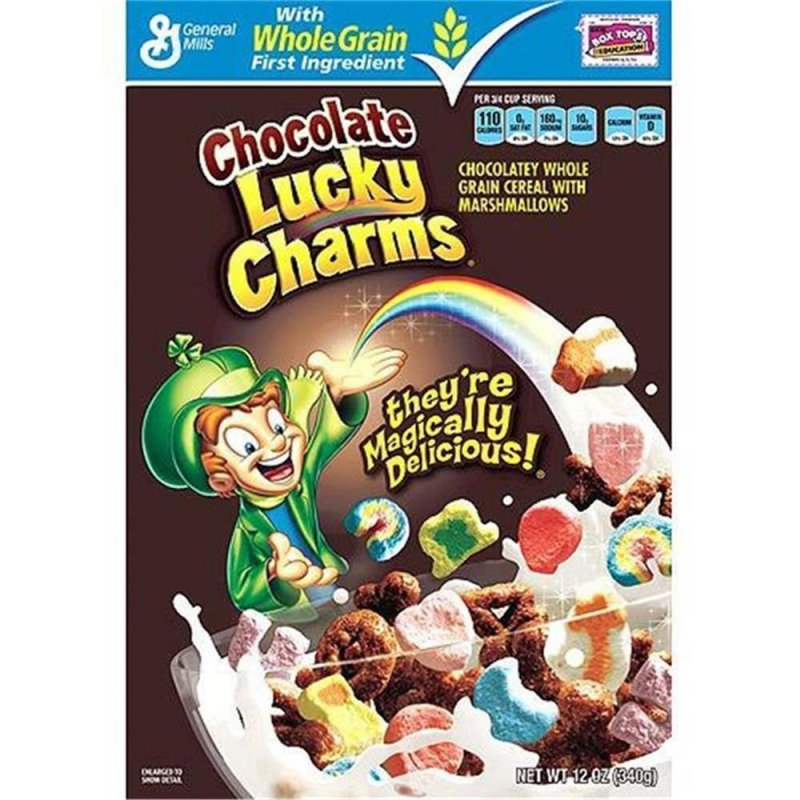I think Chocolate Lucky Charms is more delicious than the original one because your milk turn into chocolate milk. It is sweet and crunchy in your mouth. It more delicious than the other cereal.