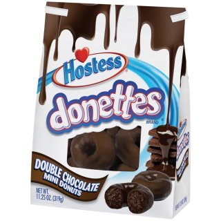 Hostess Donettes - Double Chocolate Donuts - 1 x 319g