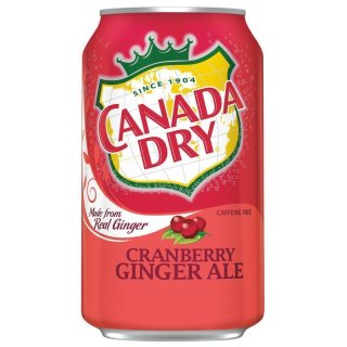 Canada Dry - Cranberry Ginger Ale - 12 x 355 ml
