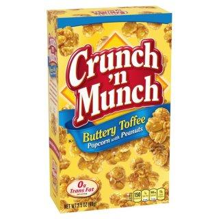 Crunch n Munch Buttery Toffee Popcorn mit Erdnüsen (99g)