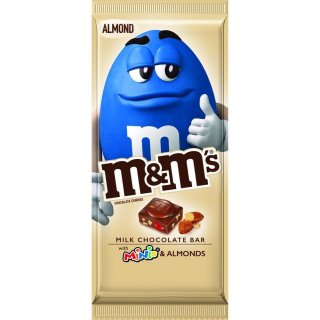 m&ms - Milk Chocolate Bar with Minis & Almonds (1x110,6g)