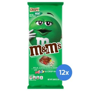 m&ms - Milk Chocolate Bar Crispy Mint (12x110,6g)