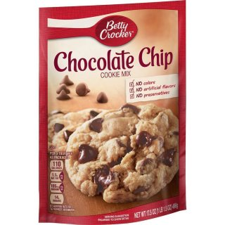 Betty Crocker - Chocolate Chip Cookie Mix - 1 x 496 g