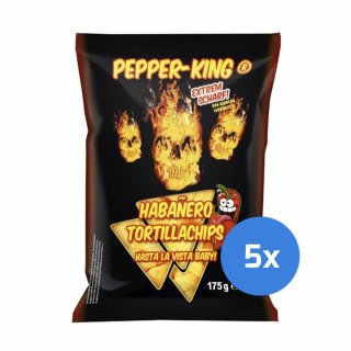 Pepper-King Habanero Tortillachips - 5 x 175g