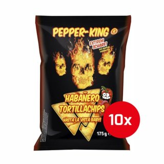 Pepper-King Habanero Tortillachips - 10 x 175g