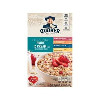 Quaker Instant Oatmeal - Fruit & Cream - 1 x 277,8g