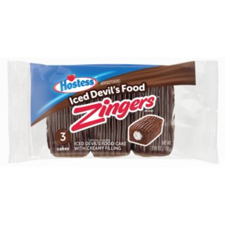 Hostess - Zingers Iced Devils Food - 6 x108g