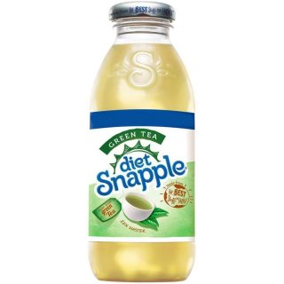 Snapple - DIET Green Tea Glasflasche - 1 x 473 ml