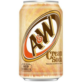 A&W Cream Soda 1 x 355 ml