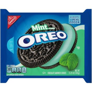 Oreo - Mint Creme Chocolate Sandwich  Cookies - 432g