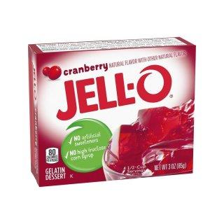 Jell-O - Cranberry Gelatin Dessert - 85 g