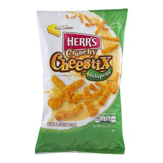 Herrs - Crunchy Cheestix Jalapeno - 255,2g