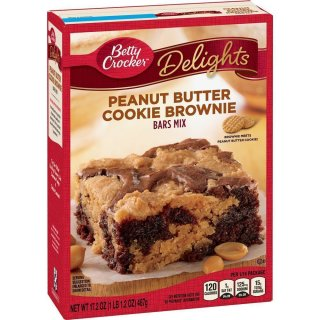 Betty Crocker - Peanut Butter Cookie Brownie - 487g