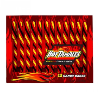 Hot Tamales Firce Cinnamon Candy Canes - 1 x 150g
