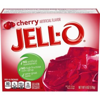 Jell-O - Cherry Gelatin Dessert - 170 g