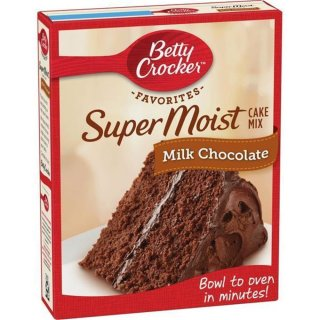 Betty Crocker - Super Moist - Milk Chocolate Cake Mix - 432 g