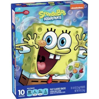 Betty Crocker - Spongebob Fruit Flavored Snacks - 226g