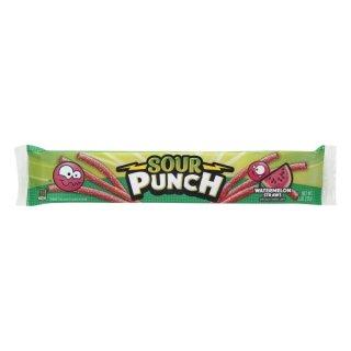 Sour Punch Blue Watermelon Straws - 57g