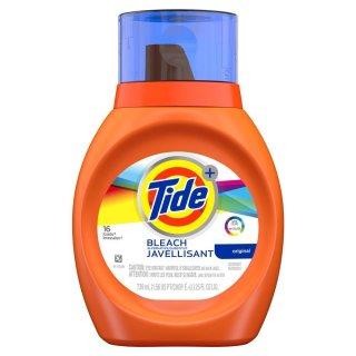 Tide Plus Bleach Liquid Laundry Detergent 16 Loads - 739ml