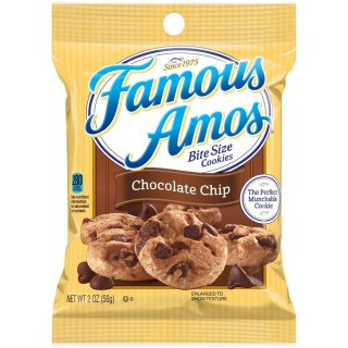 Famous Amos Bite Size Cookies Chocolate Chip - 56g