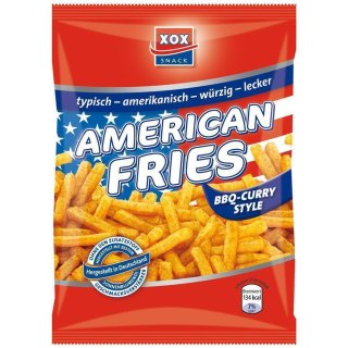 XOX Snack - American Fries BBQ Curry Style - 125g