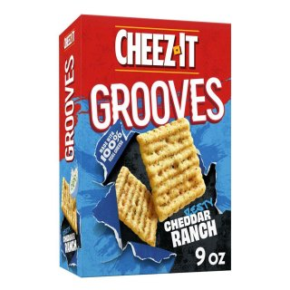 Cheez-It Grooves Cheese Cracker Zesty Cheddar Ranch - 255g