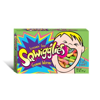 Screamin Sour Sqwigglies Gummi Worms - 99g