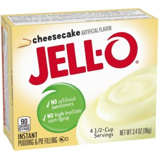 Jell-O - Cheesecake Instant Pudding & Pie Filling - 1 x 96 g