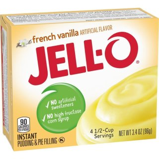 Jell-O French Vanilla Instant Pudding & Pie Filling (96g)