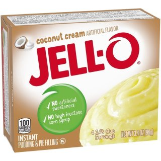Jell-O - Coconut Cream Instant Pudding & Pie Filling - 1 x 96 g