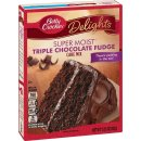 Betty Crocker - Super Moist - Triple Chocolate Fudge Cake...