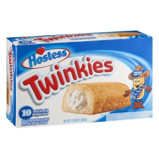 Hostess Twinkies 10x Golden Sponge Cake with Creamy filling (385g)