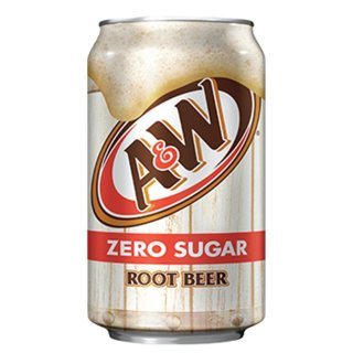 A&W - Root Beer Zero Sugar - 1 x 355 ml