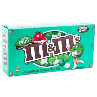 M&Ms - Mint/Dark Chocolate ( 24x 42.5g Packung )
