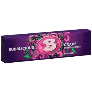 Bubblicious Grape 5 Stück - 1 x 40g