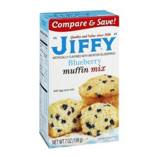 Jiffy - Blueberry Muffin Mix - 1 x 198 g