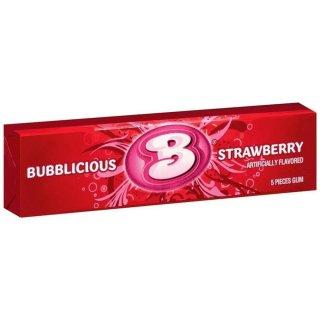 Bubblicious Strawberry 5 Stück - 1 x 38g
