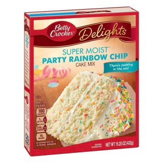 Betty Crocker - Super Moist - Party Rainbow Chip Cake Mix (432g)