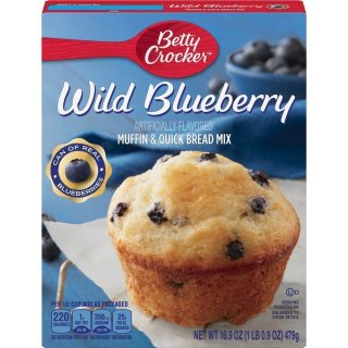 Betty Crocker - Premium Muffin & Quick Bread Mix - Wild Blueberry - 1 x 479 g