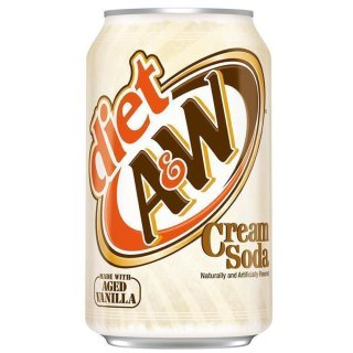 A&W -  Cream Soda DIET -  24 x 355 ml