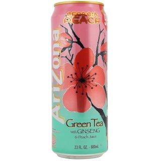 Arizona - Georgia Peach Green Tea With Ginseng & Peach Juice  - 1 x 680 ml